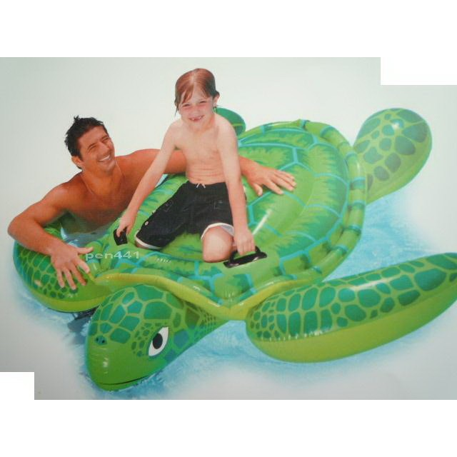 玩樂 美國INTEX 56524 大海龜充氣坐騎動物 坐騎有手把夏天玩水游泳戲水 大游泳池
