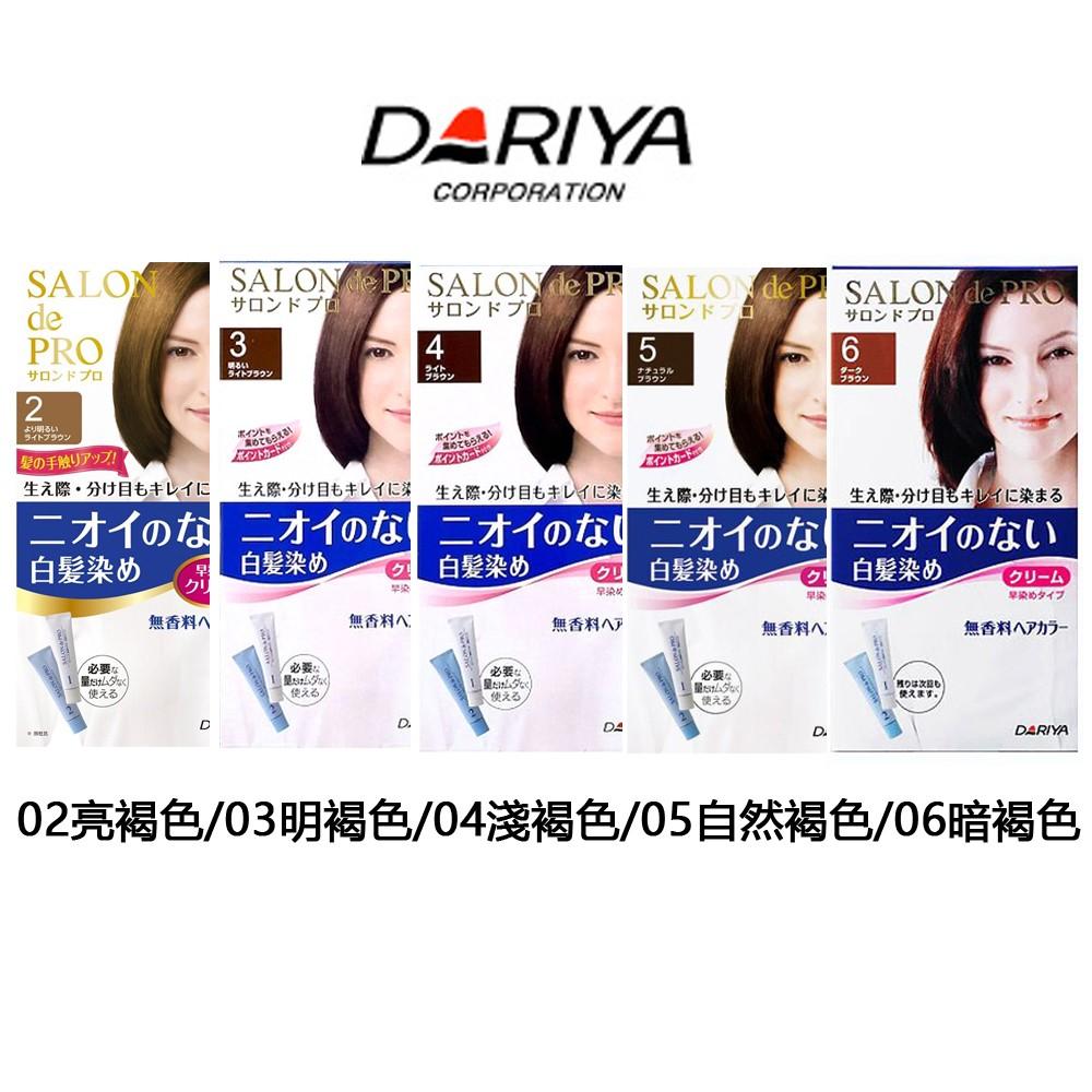 DARIYA 沙龍級染髮劑40g 40g 無味型白髮染~02 亮褐03 明褐04 淺褐05
