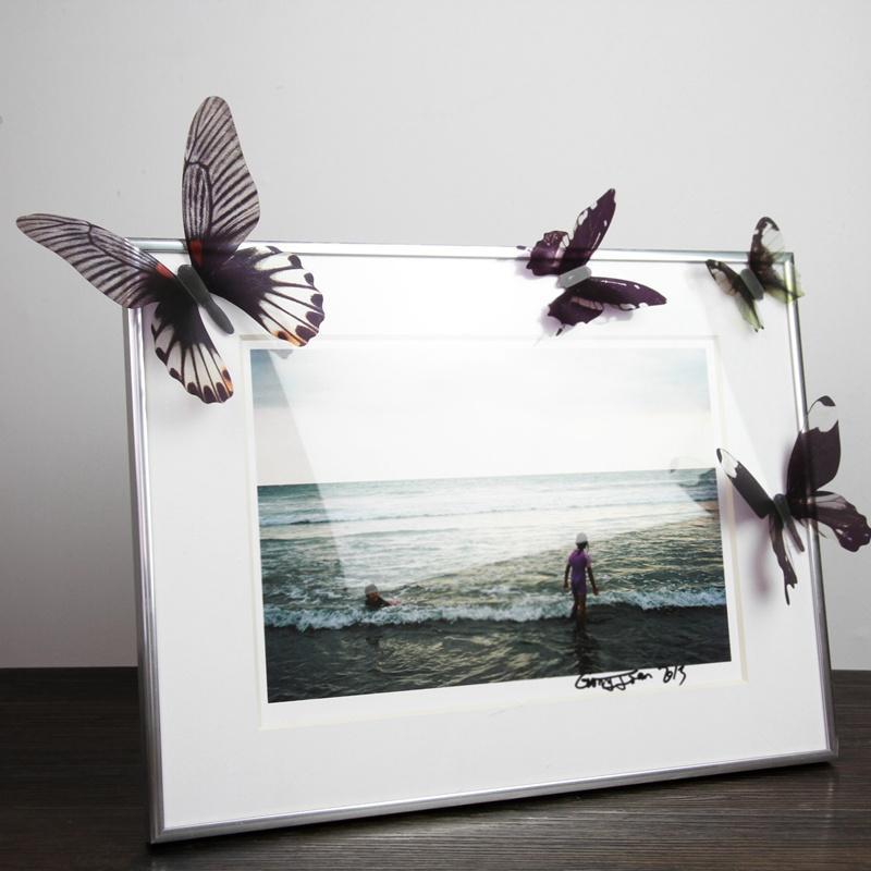 HomePlus 3D 夢幻蝴蝶黑色18 入組立體壁飾壁貼裝飾婚禮小物