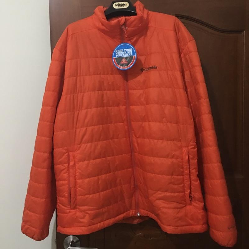 哥倫比亞Columbia 男裝橘色羽絨外套XL