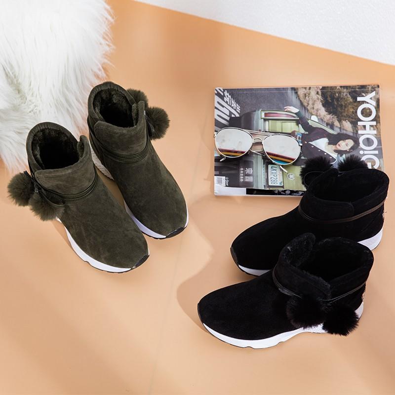 女棉鞋休閒雪地靴厚底防滑保暖女靴子高幫女鞋