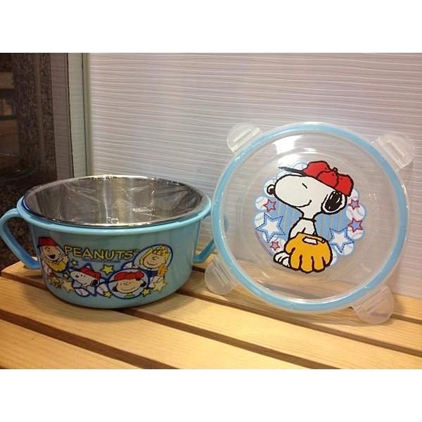 阿虎會社~S5 ~ 史努比不銹鋼口環隔熱碗兒童碗史努比塔克藍保鮮盒隔熱碗環保碗