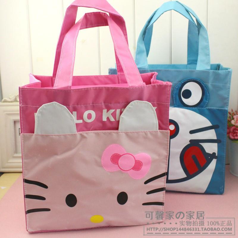 hello kitty 可愛卡通防水牛津布便當包飯盒包手提包收納整理袋