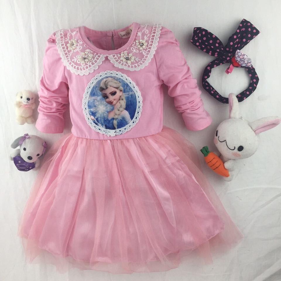 ~ ~冰雪奇緣粉色洋裝