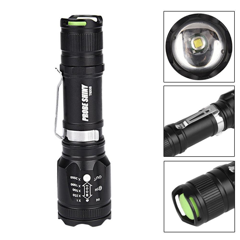 超亮4 模式戰術手電筒6000Lm T6 LED 手電筒變焦燈