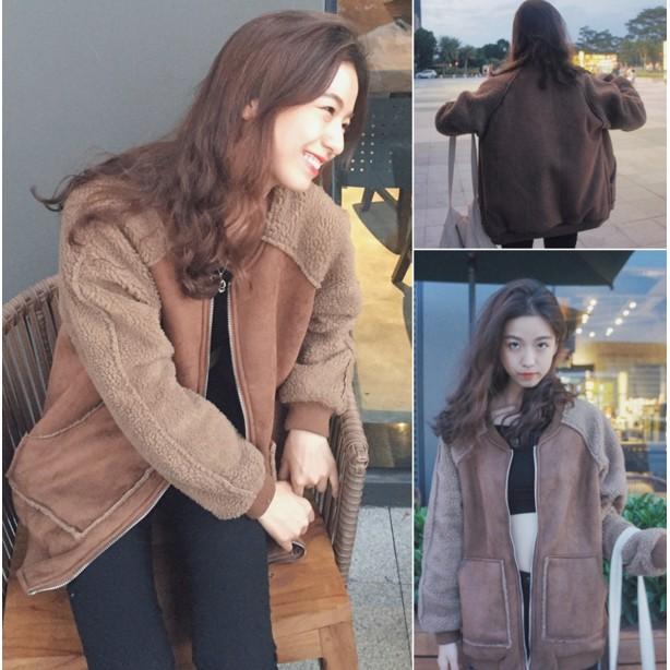 女裝冬裝2016  寬鬆皮絨羊羔毛加厚夾克上衣學生休閒短外套