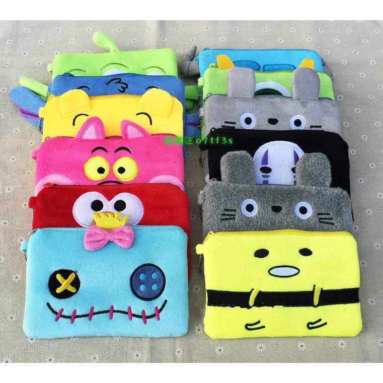 可愛卡通零錢包手機袋化妝包收納包鑰匙包手拿包毛絨包相機包悠遊卡包迪士尼