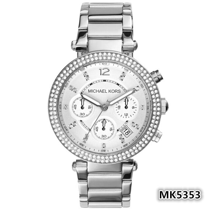 ~如假包退~Michael Kors MK 女士手錶日曆圓盤包包精鋼石英鑲鑽女錶MK535