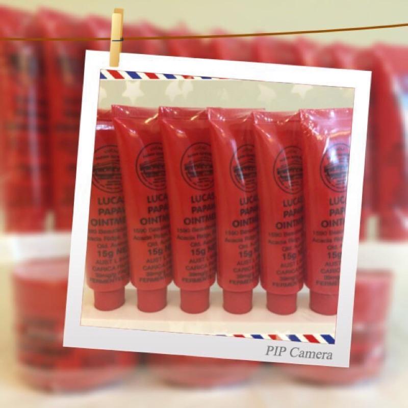 ~EMA 澳洲 ~LUCAS PAPAW 澳洲老牌木瓜霜萬用膏15g 護唇膏斜口型賣場