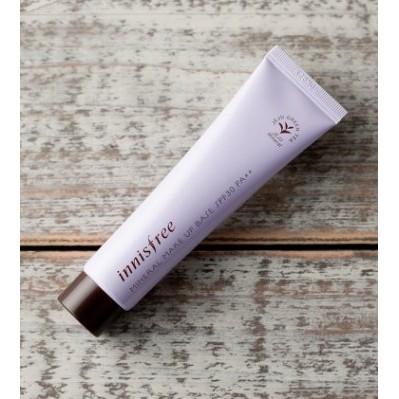 韓國官網門市正品innisfree 珍珠礦物質輕透潤色隔離霜礦物質妝前乳紫色SPF30 P