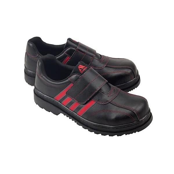 LJB 男款魔鬼氈寬楦鋼頭防穿刺耐油耐高溫耐磨止滑MIT  安全鞋工作鞋