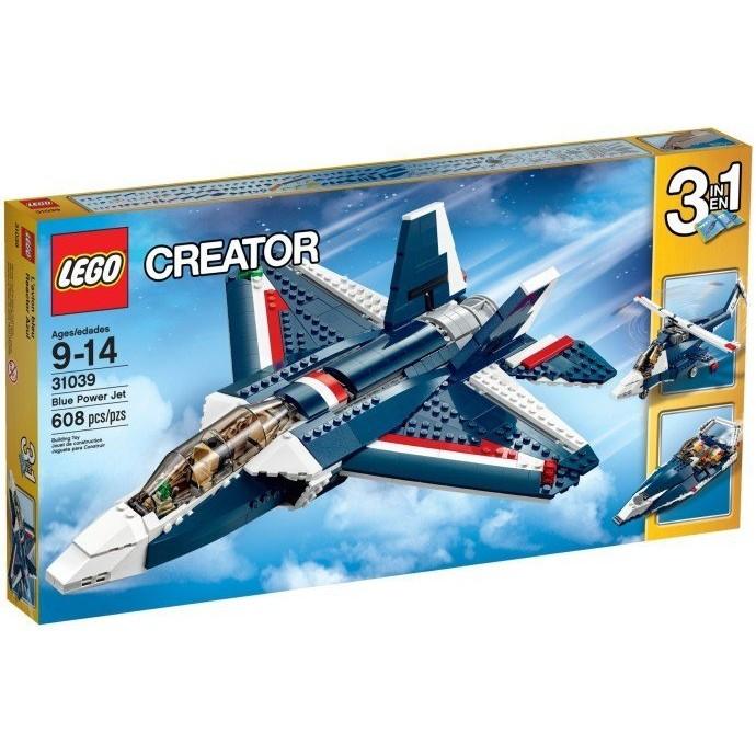 ~W 先生~LEGO 樂高積木CREATOR 系列藍色動力噴射機31039