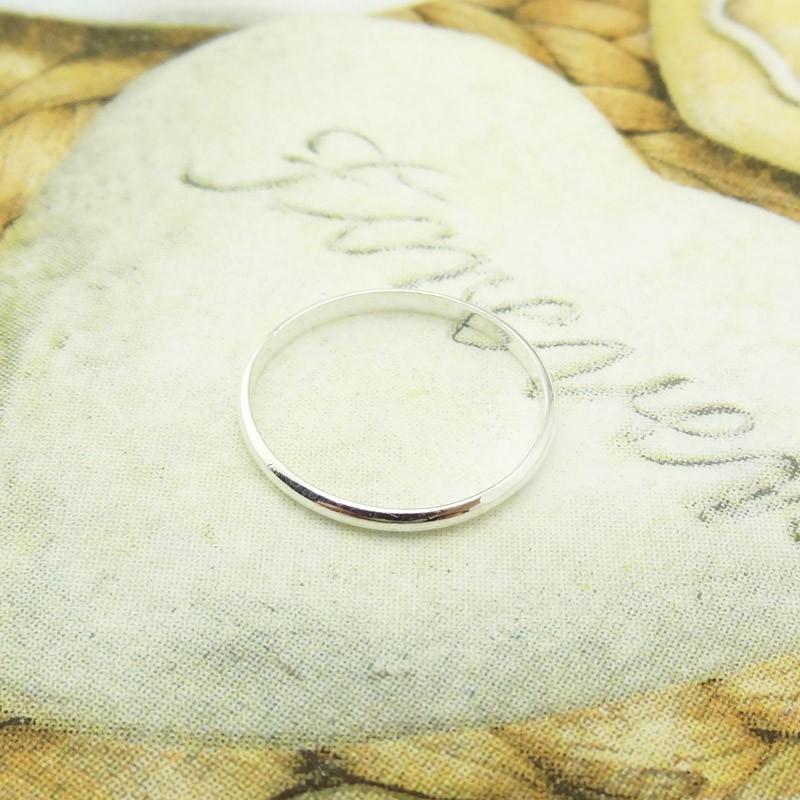 ~純銀細緻單圈環戒指~925 純銀飾品亮面細版簡約尾戒抗過敏 情人節生日 聖誕節