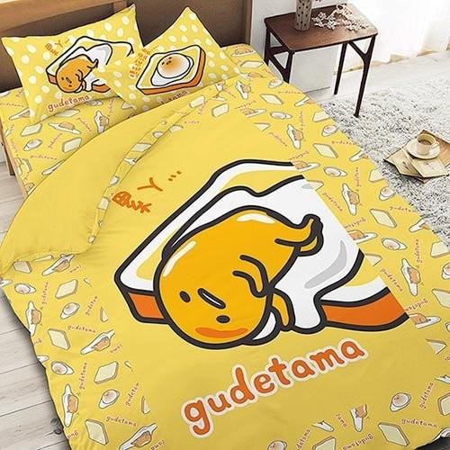三麗鷗  系列寢飾~GUDETAMA 吐司蛋黃哥~單人雙人床包組被套涼被兩用被鋪棉被套枕頭