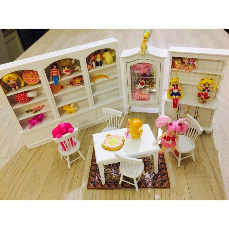 娃用娃娃屋 拍照道具櫥櫃桌椅展示櫃迷你 仿真扭蛋轉蛋玩具拍照用木頭製1 12