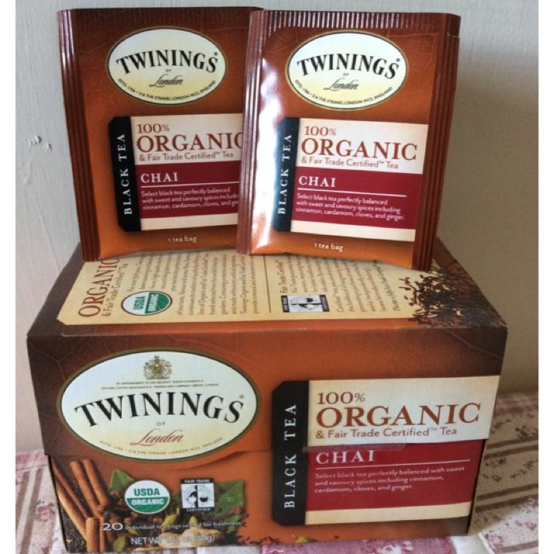 唐寧有機香料茶香料紅茶Twinings 茶包USDA 公平貿易肉桂豆蔻丁香生薑