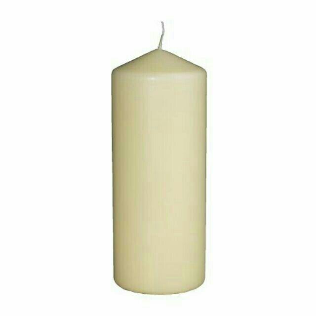 IKEA FENOMEN 塊狀蠟燭白色15 20 25 公分燭光浪漫賣場 各式蠟燭 擇