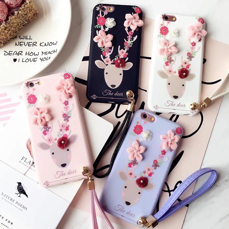 韓國立體花朵iPhone7 7plus 手機殼6plus 日韓潮女蘋果iPhone 6s