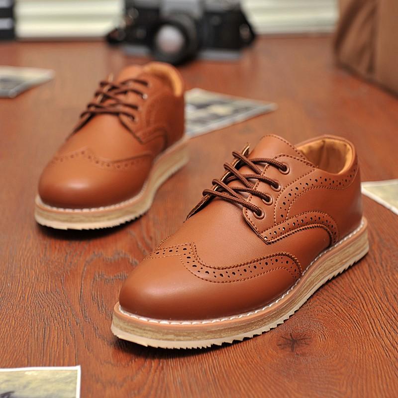英倫風雕花布洛克休閒鞋男士透氣皮鞋復古板鞋男鞋子 潮鞋高跟鞋單鞋豆豆鞋涼鞋懶人鞋