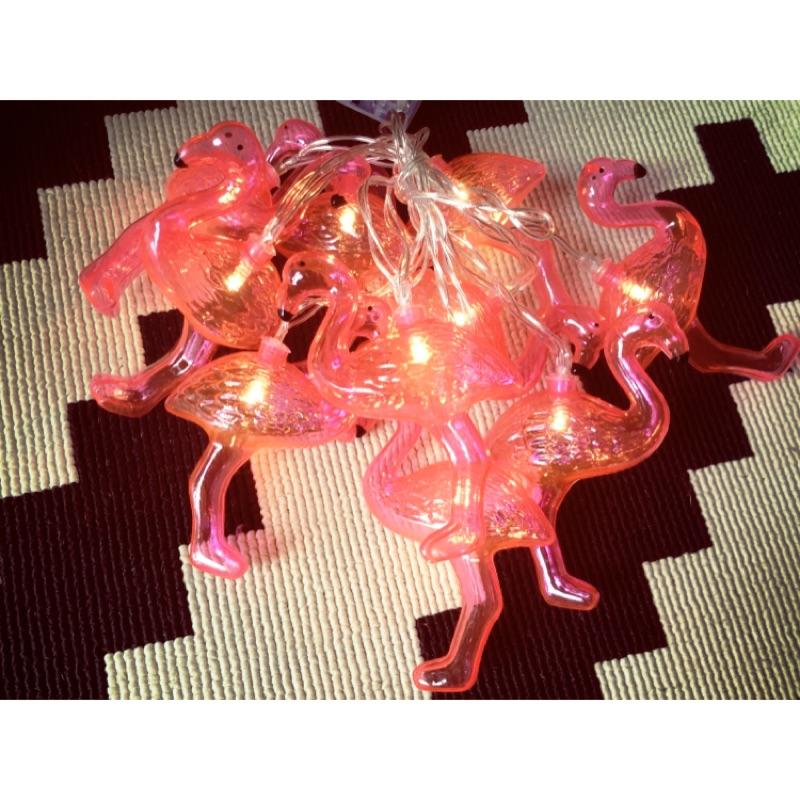 粉紅紅鶴LED 燈串裝飾品小掛燈