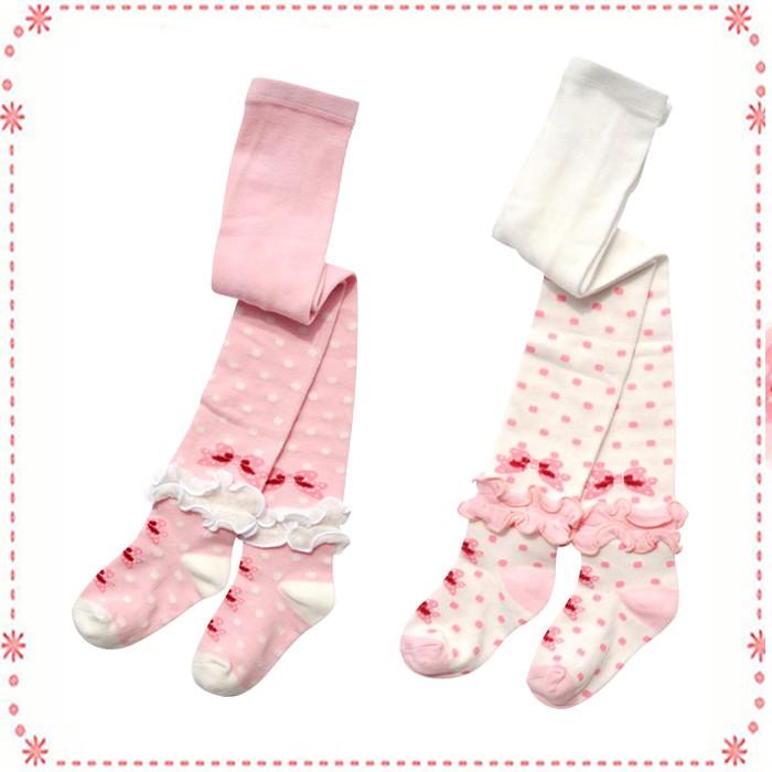 ~比比屋~日單 可愛木耳花邊褲襪針織連褲襪蝴蝶結褲襪~85cm 、95cm 、105cm