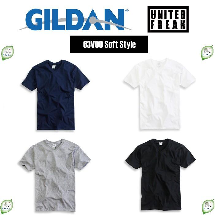 Gildan 63V00 系列純棉V 領素T ~United Freak ~T 恤短T 短