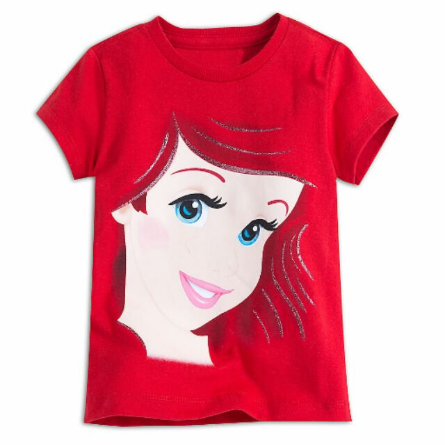 Disney 官網購回小美人魚公主Ariel 棉T 上衣 5 6