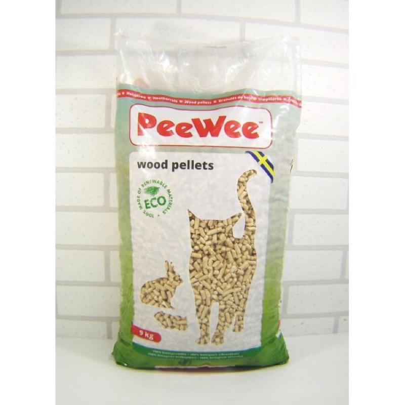 PeeWee 必威松木砂9KG 吸水性強超除臭