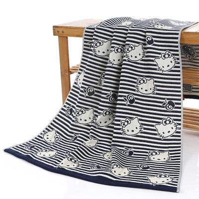 凱蒂貓Kitty 貓超 日系貓咪三層紗布浴巾包巾蓋毯床單多 賣場花色多70 140CM