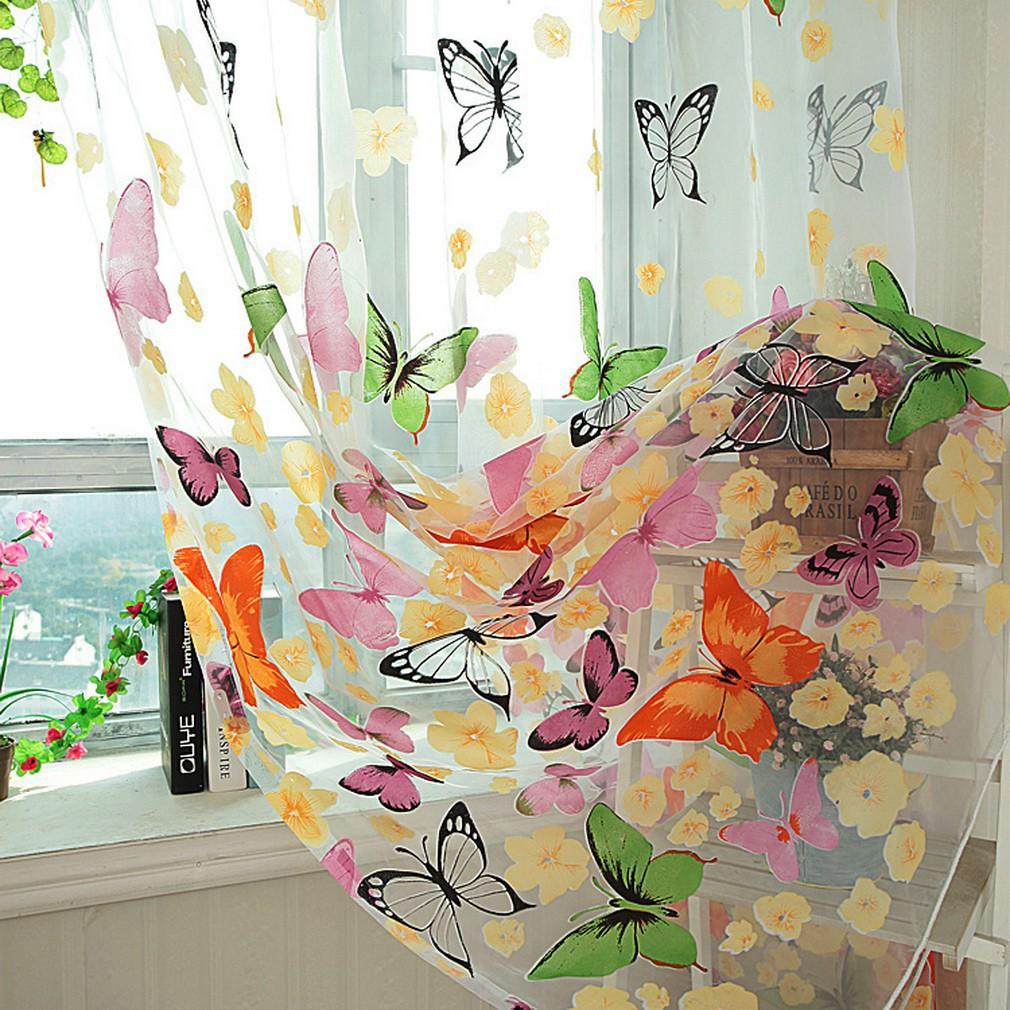 蝴蝶分隔線窗簾