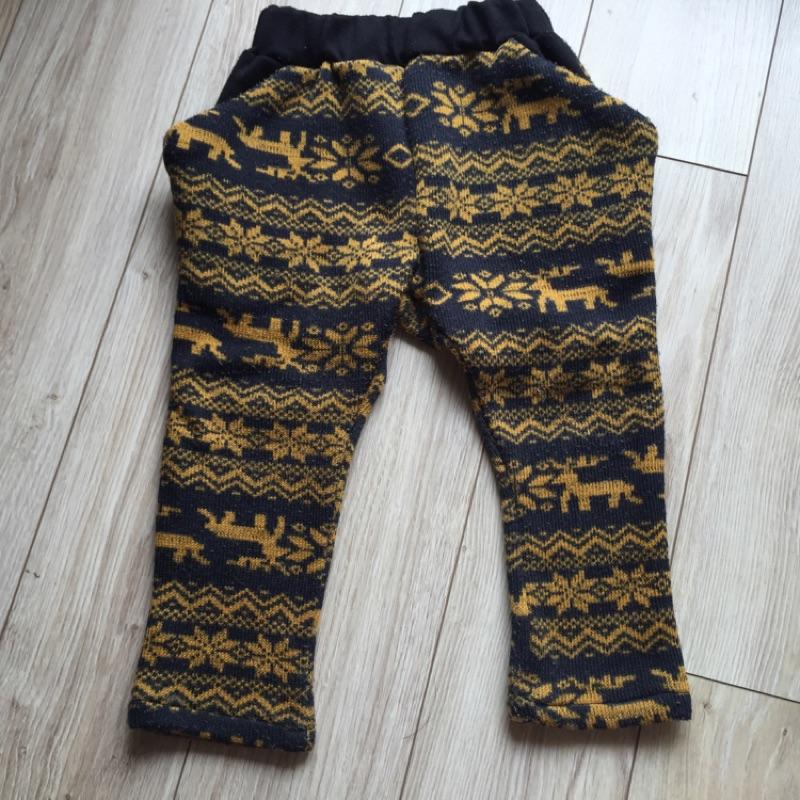 正韓民族風內刷毛飛鼠褲size 5