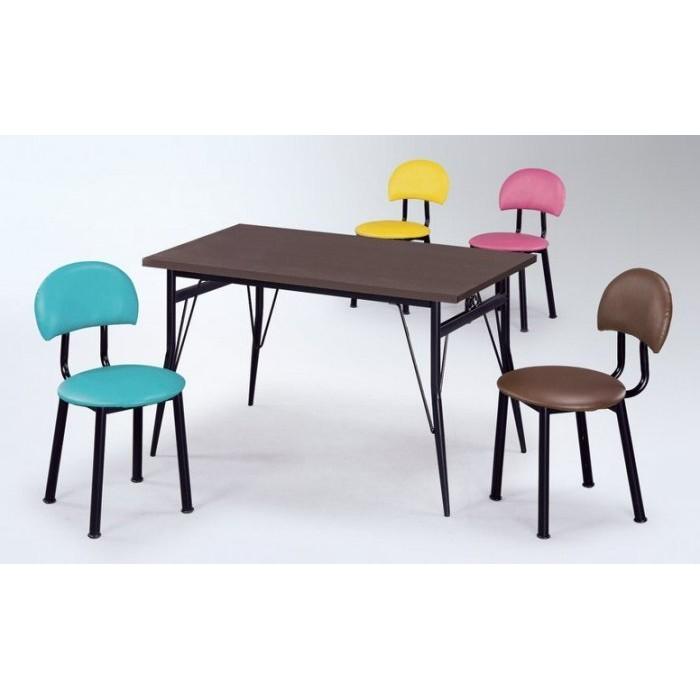 金 小店-羅莎餐椅西餐椅西點椅綠黃粉紅咖啡四色烤黑腳40 年老店台中可