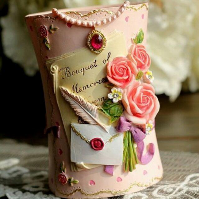 韓風精美浪漫粉紅色愛心型蕾絲邊珍珠水鑽玫瑰花樹脂雕花眉毛刷眼影刷腮紅刷睫毛刷蜜粉刷眉刷口紅