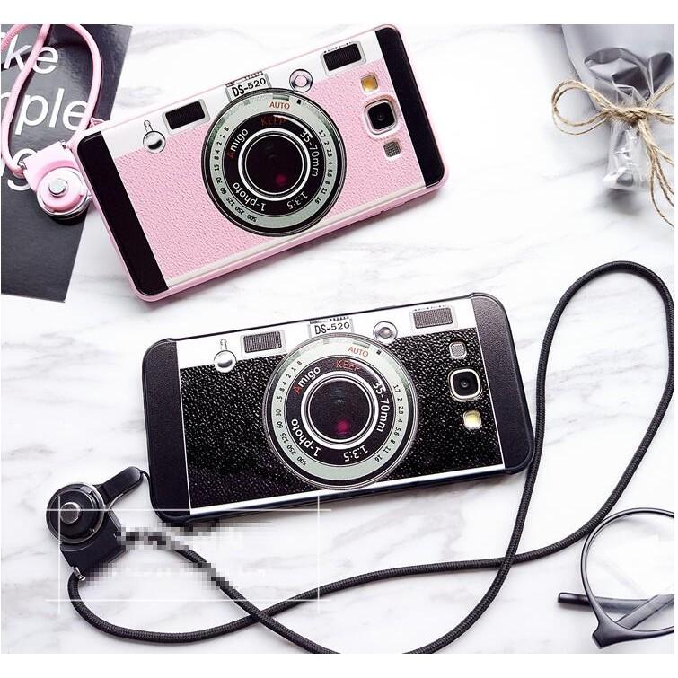 韓國相機 三星蘋果oppo 小米華為A7 A5 A8 A9 手機殼保護套矽膠note5 帶
