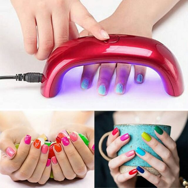 ~顏色 ~9W 便攜式美甲光療機彩虹燈LED 燈USB 插電迷你30 秒定時