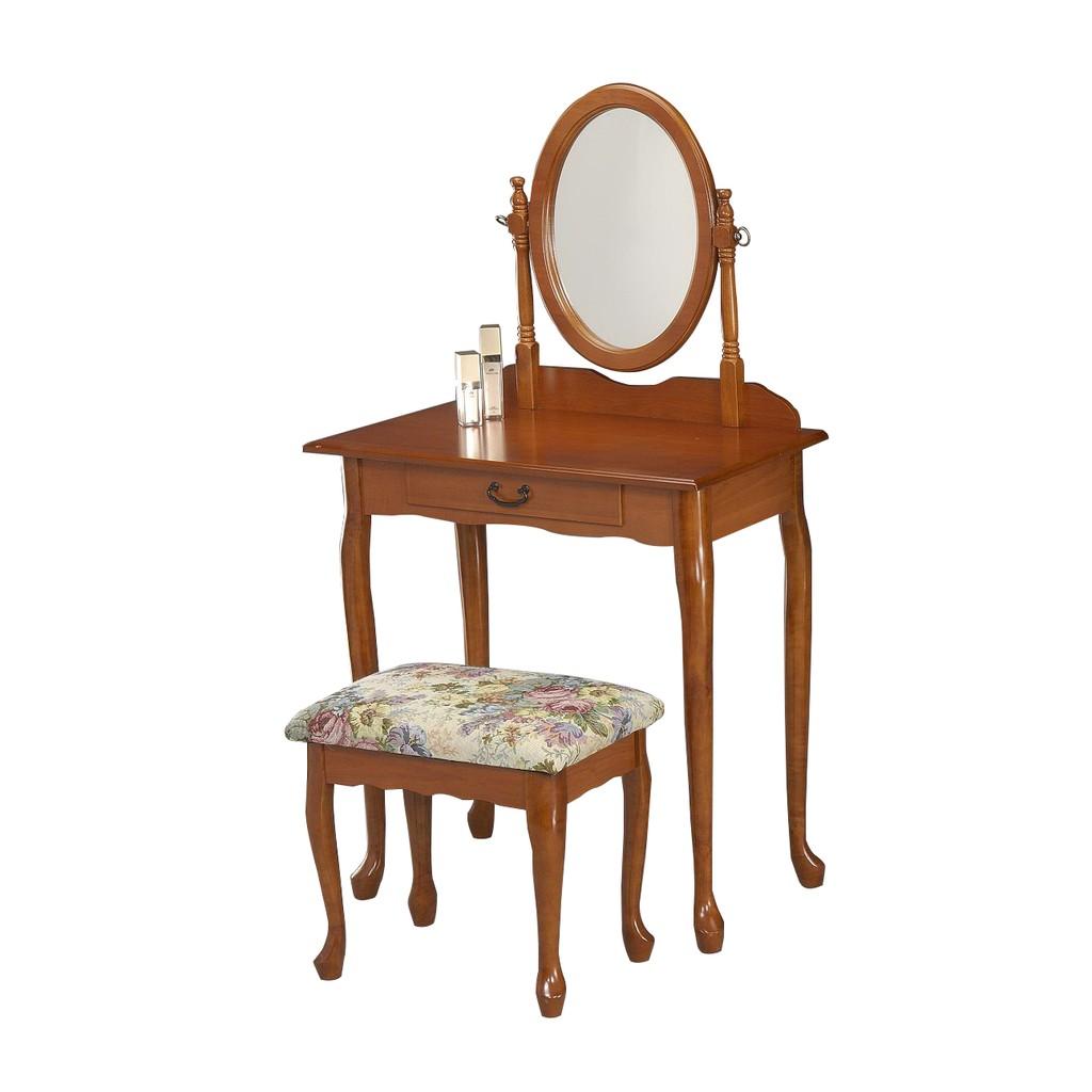 ~森林小工匠~化妝桌椅組胡桃色梳妝台化妝桌化妝椅房間 鏡台/仿洛可可風
