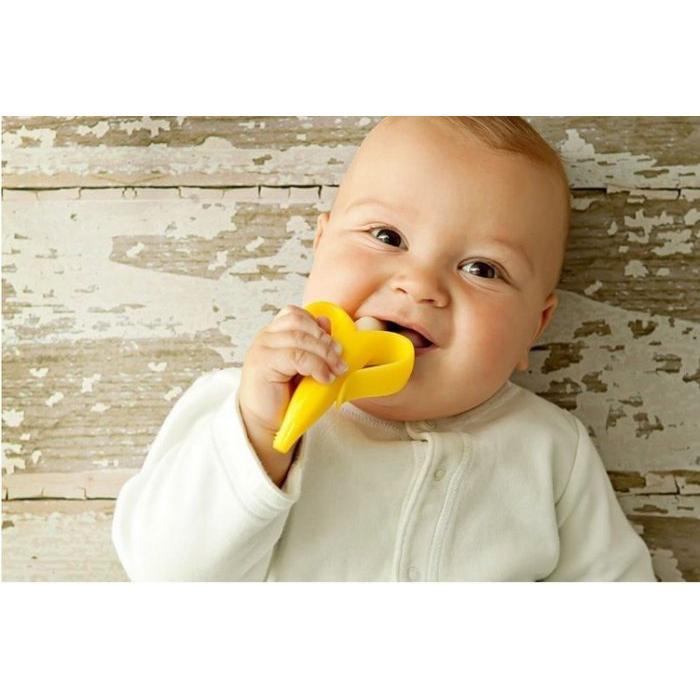 BABY BANANA 美國香蕉寶寶幼兒用訓練矽膠牙刷固齒器