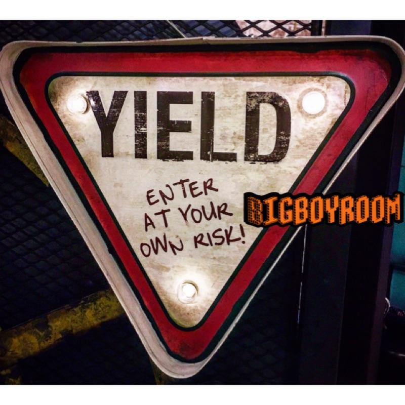~Big boy room 復古傢俱傢飾~警示指示燈YIELD 路牌66 工業風美式復古L