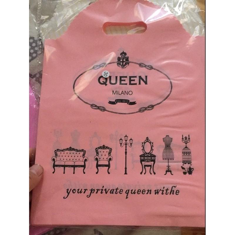 ~有夢最美~粉色女皇塑料手提袋50 入服飾包裝袋
