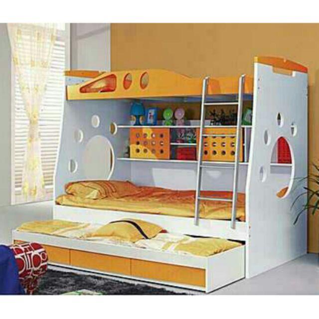 ~免 ~雙層床兒童床上下床高低床子母床公主母子床上下舖高架床多 床男孩女孩