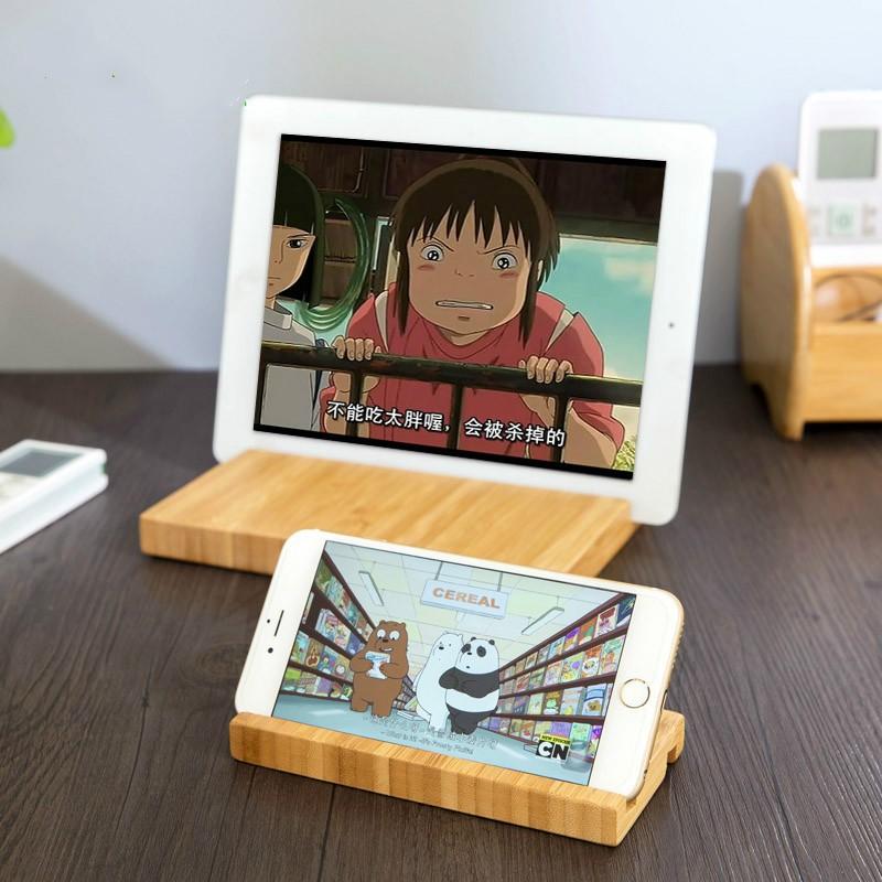 竹木手機支架桌面平板電腦架子懶人神器ipad 手機架手機座