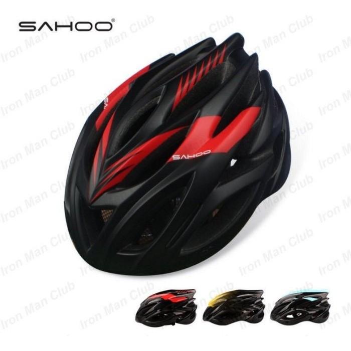 sahoo 自行車一體成型安全帽23 個風孔輕量通風附防蟲網公路車單車流線型