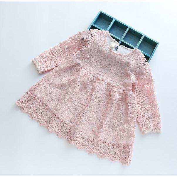 花朵刺繡縷空蕾絲雙層洋裝 AI 390 1089