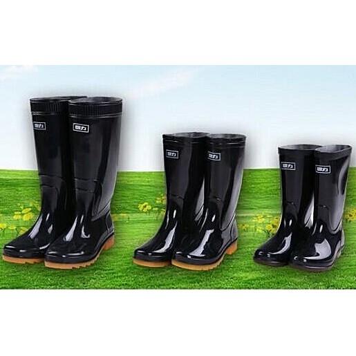 正品回力中高筒雨鞋男雨靴女套鞋耐酸堿水靴牛筋底勞保膠靴水鞋