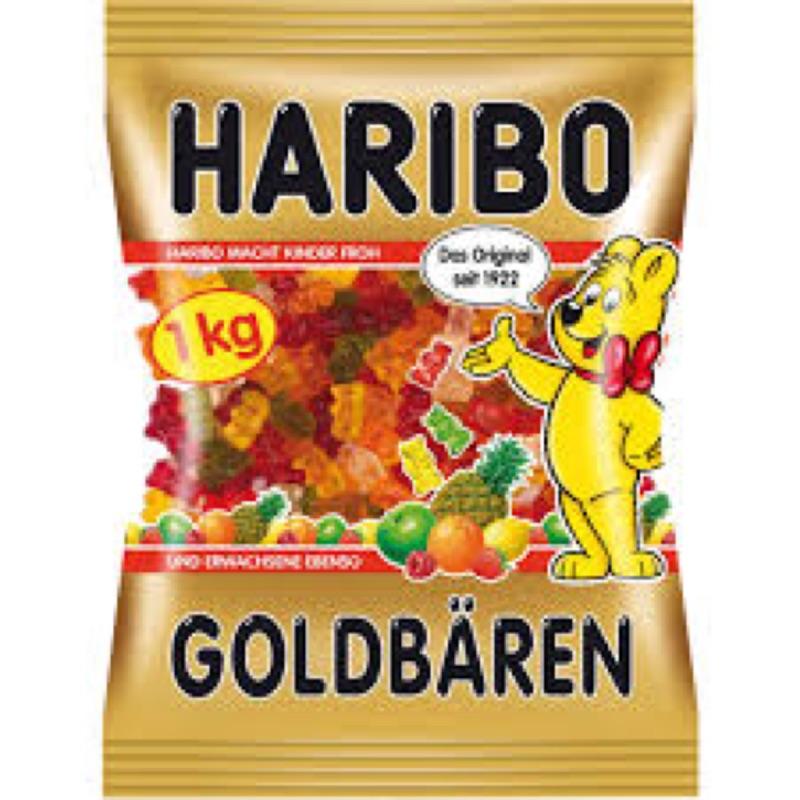 超大包裝!新鮮 !!2016 10 月1 日德國帶回HARIBO 小熊軟糖大包裝1 公斤