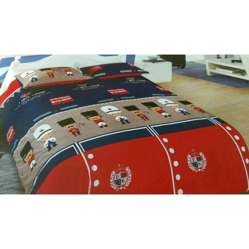 英國大頭兵天絲雙人床包、涼被
