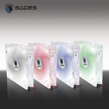 買三送1 賽德斯SADES 狼牙12cm LED 燈靜音風扇藍白紅機殼風扇含油軸承彰化縣可
