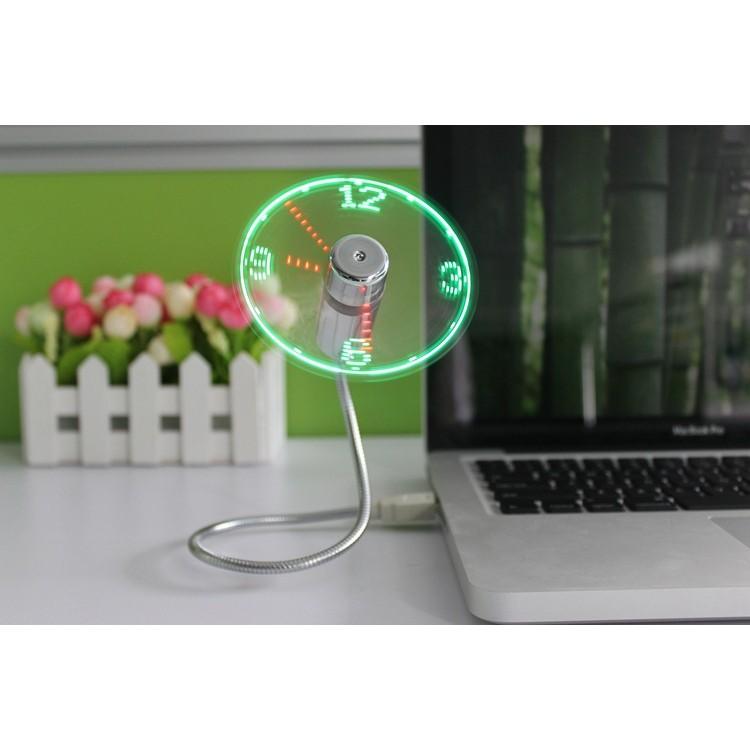 免 LED 時鐘風扇USB 蛇管風扇可隨意彎曲軟管風扇發光風扇迷你小風扇可接行動電源