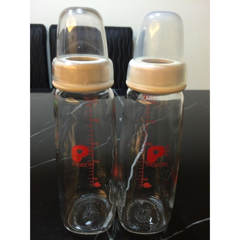pigeon 貝親 口徑玻璃奶瓶240ml 200ml
