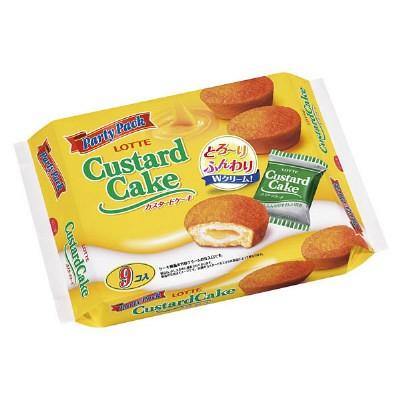 爆買  不是韓國的喔!樂天LOTTE 卡士達奶油蛋黃派CASTARD CAKE 9 袋入